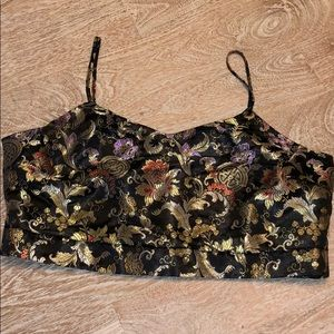 Prolly & Esther XL crop top oriental black gold